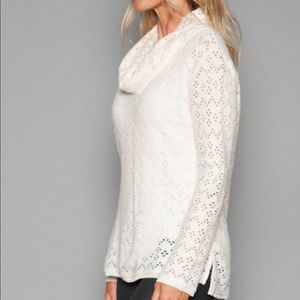 Dylan Hippie Chic Sweater Perforated Sweater L